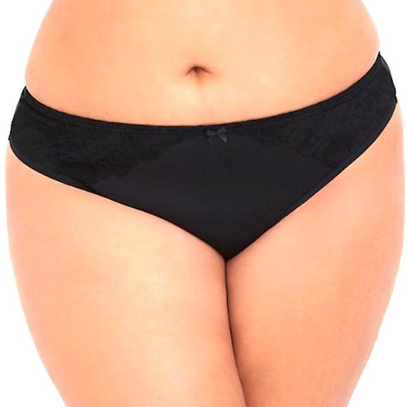 9d9f6423953 TORRID 1X Curve Body™ Black Microfiber Thong Panty